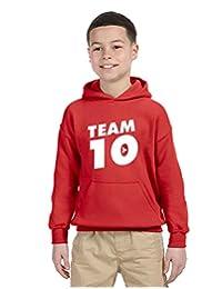 Allntrends Kids Youth Hoodie Team 10 Cool Trendy Tshirt Hot Top