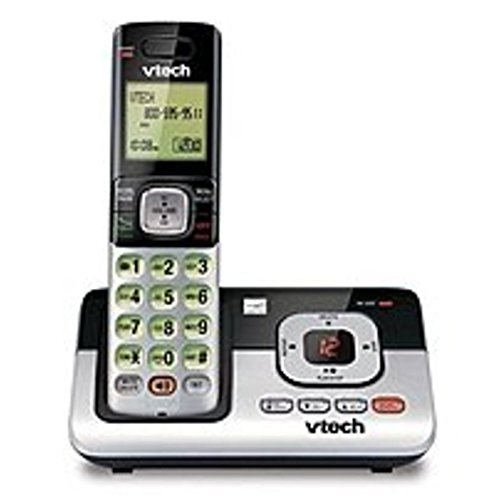 Vtech CS6829 DECT 6.0 Expandable Cordless Phone System with Caller ID and Digital Answering (Certified Refurbished) by VTech