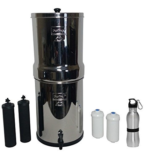 Imperial Berkey Water Filter Premium 4.5 Gallon Bundle: 2 Black BB9 Filters, 2 Fluoride PF2 Filters, 1 Stainless Steel Water (Imperial Systems)