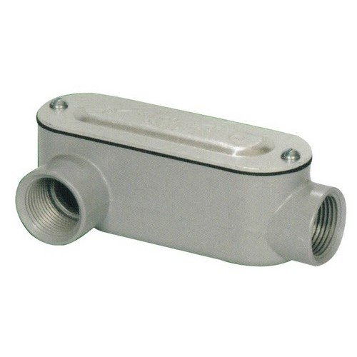 Morris 14094 Rigid Conduit Body, Aluminum, Type LR, Threaded with Cover and Gasket, 1-1/2
