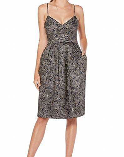Laundry by Shelli Segal Grey Floral Jacquard Sheath Dress