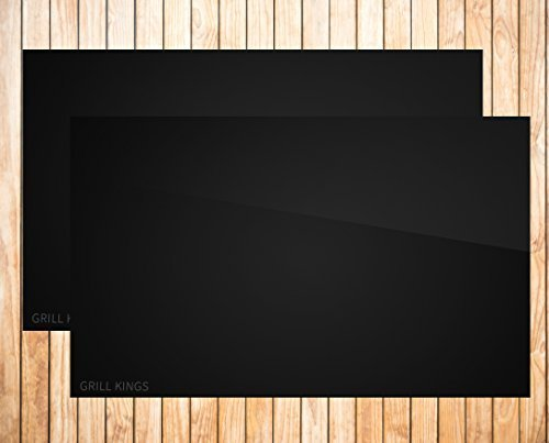 Grill Kings Non-Stick Barbecue Grill Mat for Grilling, Baking, Broiling, Set of 2