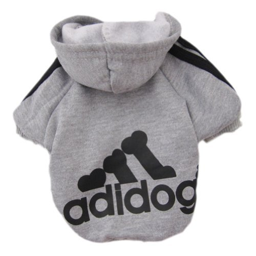 Hottest Dog Sweaters,FuzzyGreen Dog Sweaters Fashion Cute Grey Hoodie Fleece Sweater T-Shirt Warm Coat Pet Apparel Pet Clothes Dogs Cat Puppy Dress Up Pet Supplies Size L (Dress Up Dogs)