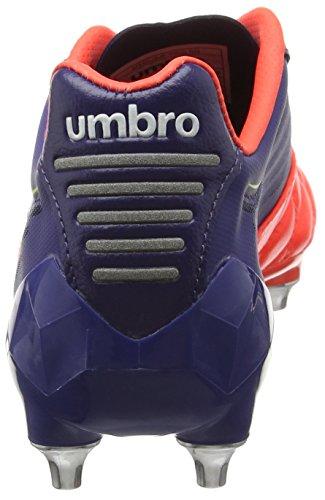 Umbro Medusæ Pro Sg - Zapatillas de fútbol Hombre Azul - Blue (Deep Cobalt/White/Fiery Coral/Sulphur)