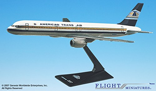 Flight Miniatures ATA American Trans Air 1981 Boeing 757-200 1:200 Scale Display Model (757 Boeing American Airlines)