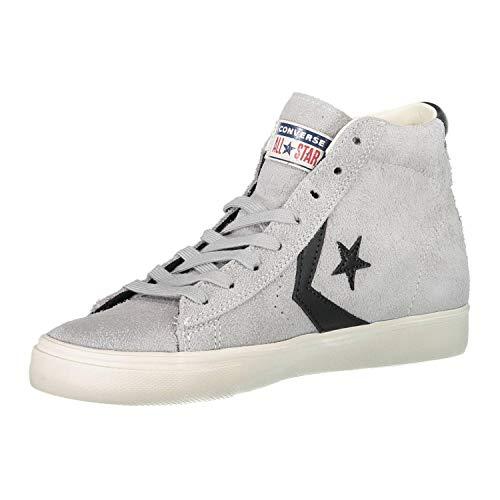 Mid 020 black turtledove ghost Grey Leather Ginnastica Da Adulto Lifestyle Unisex Multicolore Pro Converse Vulc Scarpe Basse 7ZnaxI6w