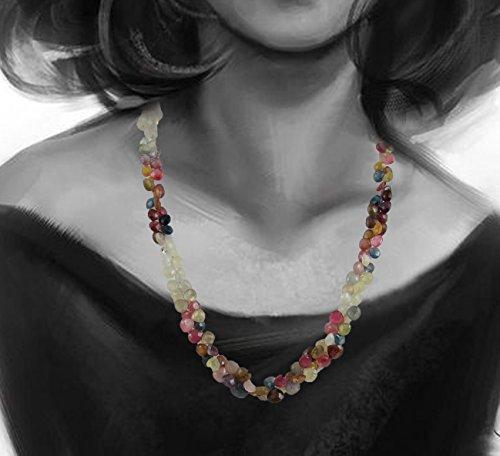 D&D Natural Super Fine Tourmaline drop shape 1 line adjustable necklace with silver hook by D&D (Image #2)