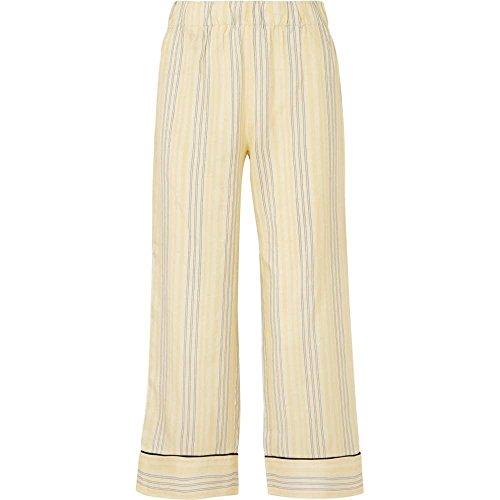自伝ハンディキャップ白菜(ガニー) GANNI レディース ボトムス?パンツ クロップド Bergamot striped silk straight-leg pants [並行輸入品]
