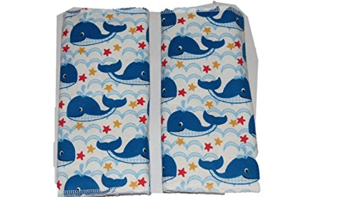Blue Whale Baby Carrier Suck Drool Pads by Jojo's Boutique