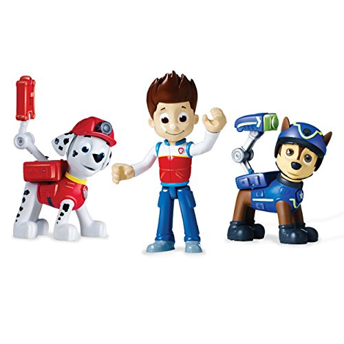 Paw Patrol Action Pack Pups Figure Set, 3 Pack, Ryder, Chase & Marshall -