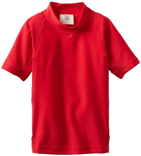 Wes and Willy Little Boys' Solid Rash Guard, Vm Red, ()