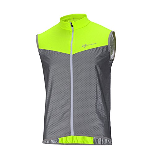 RockBros Men's Cycling Vest Ultralight Breathable Reflective Vest For Running Fishing and Other Outdoor Sports M