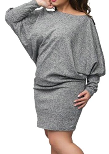 T Shirt Back Lace Long Dress Loose Cruiize Sleeve Gray Womens Neck V Casual vRxfzw