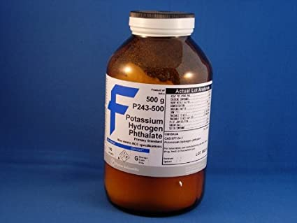 Potassium Hydrogen Phthalate (500 g): Science Lab Supplies: Amazon ...