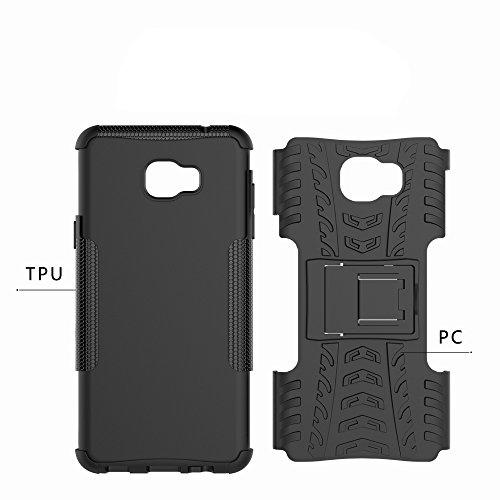 OFU®Para Samsung Galaxy C7 pro Smartphone, Híbrido caja de la armadura para el teléfono Samsung Galaxy C7 pro resistente a prueba de golpes contra la lucha de viaje accesorios esenciales del teléfono- Rose Red