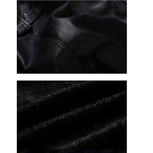 Cappotto Con Pelle In Slim Attillata Stile Fit Trench Cintura Da Uomo Robo 2 6 Biker Nero Basic xs Giacca Nera l A1dxOwffq