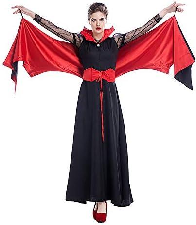 ZYJT Disfraz De Miedo De Mujer Adulta De Halloween Vestido Negro ...