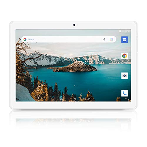 Tablet 10 inch, 5G WiFi Tablet, Android 8.1 Go, 16GB, Dual Camera, 1280×800 IPS Display, GPS, Bluetooth, Google Certified PC – Silver