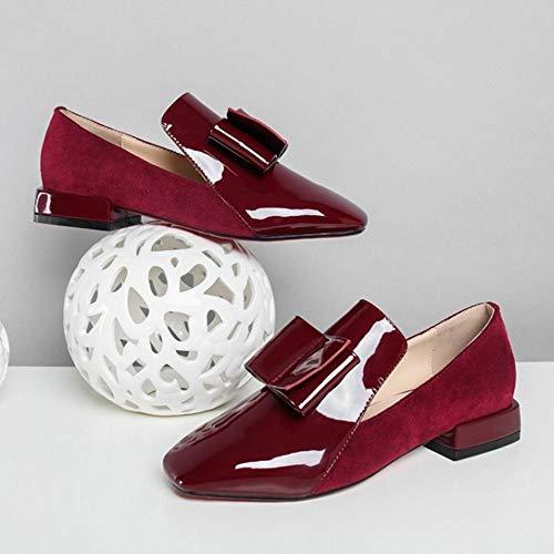 2 Des 2 Brogue Talons Claret 5cm Height Slip On Sucré Escarpins Chaussures Zanpa Femmes qfxw74HU
