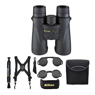 Nikon Monarch 5 10×42 Waterproof/Fogproof Roof Prism Binoculars (7577) Bundle with a Lens Pen + Harness + Case & Essential Accessories (5 Items)