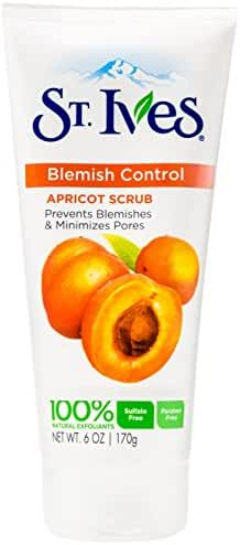 St. Ives Naturally Clear Blemish and Blackhead Control Scrub, Apricot, 6 Ounce