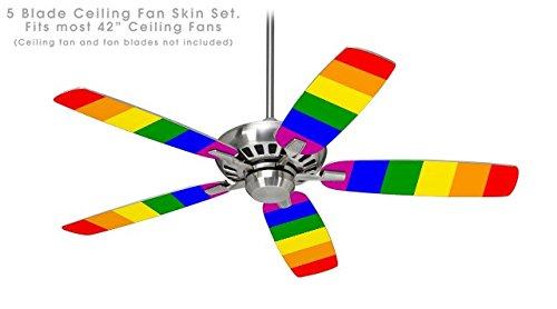 Rainbow Ceiling Fan : Rainbow stripes ceiling fan skin kit fits most inch