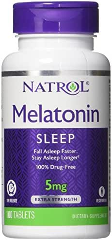 Natrol Melatonin Time Release Tablets, 5mg, 100 Count