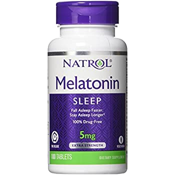 Natrol Melatonin Time Release Capsules, 5 mg, 100 Count