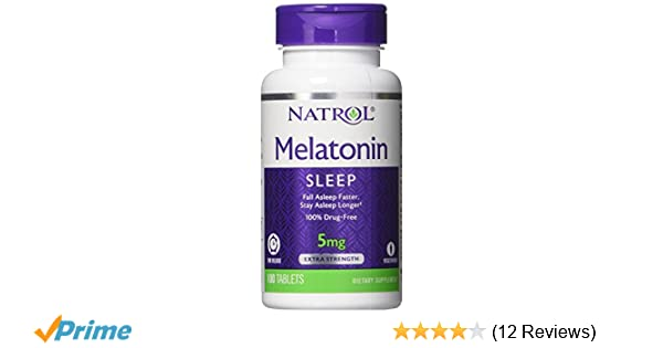 Amazon.com: Natrol Melatonin Time Release Capsules, 5 mg, 100 Count: Health & Personal Care