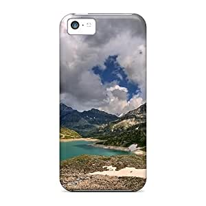 For BJBcke Iphone Protective Case, High Quality For Iphone 5c High Alpine Lscape Skin Case Cover