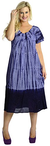 Women's Caftan Cover up RAYON Cover up Hand Tie Dye Long Beach MAXI DRESS Purple Valentines Day Gifts 2017