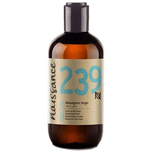 (Naissance Virgin Wheatgerm Oil 8.5 fl. oz/ 250ml 100% Pure & Natural Moisturising Oil for Dry and Damaged)