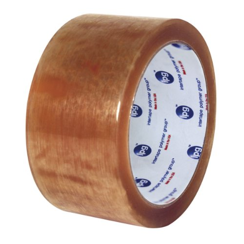 Intertape Polymer Group N8218 500 Solvent Natural Rubber, Medium Grade Carton Hand Sealing Tape, 1.9 mil Thick, 100M Length x 72mm Width, Clear, Case of 24 Rolls