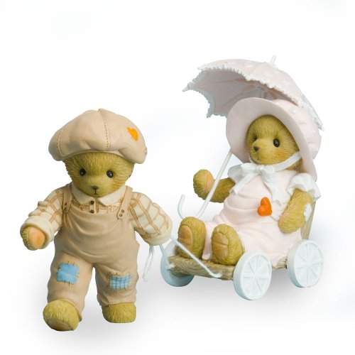 Enesco Bear Teddy - Enesco Cherished Teddies Collection Bear Pulling Girl Figurine, 3.75-Inch