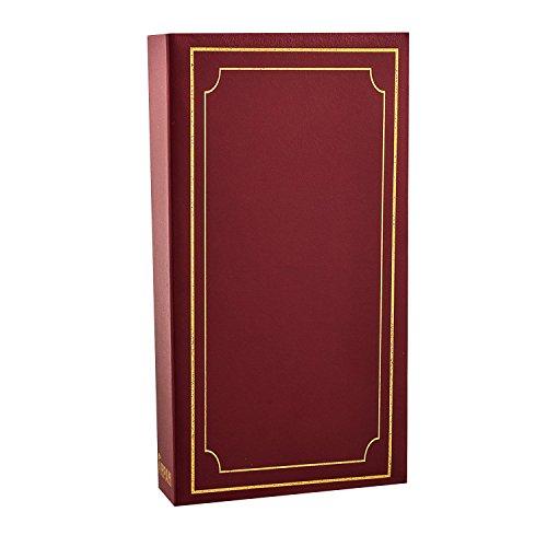Arpan 6x4'' Plain Padded Cover Slip In Case Photo Album For 300 Photos (Burgundy)