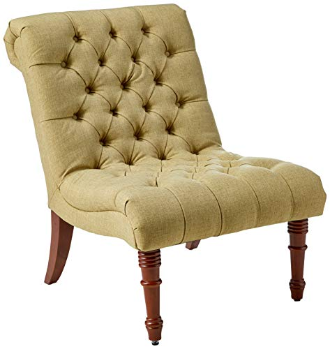 Tufted Accent Chair without Arms Mossy Green