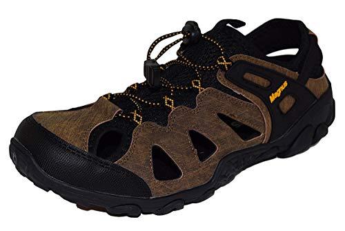 Herren Sandalen Trekking Schuhe Outdoor Leder Wander D2YH9eIbWE