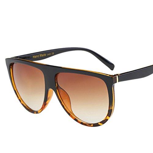 Sunglasses, Mchoice Fashion Unisex Vintage Shaded Lens Thin Glasses Fashion Aviator Mirror Lens Sunglasses - B Base Sunglasses