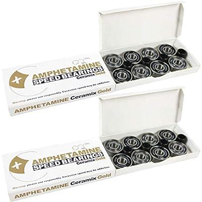Amphetamine Speed Skate Ceramic Si3N4 Inline Race Bearings Set (16) Roller Hockey : Skate Replacement Bearings : Sports & Outdoors