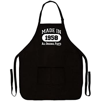 60th birthday gift made in 1958 funny apron for Gardening 60th birthday gifts