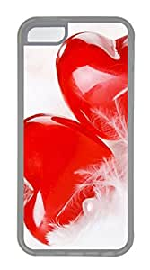 iPhone 5C Cases & Covers - Two Lovers Heart TPU Custom Soft Case Cover Protector for iPhone 5C - Transparent