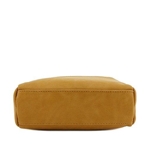 Small Triple Crossbody Zip Mustard Dark Bag Rq0O5qwv