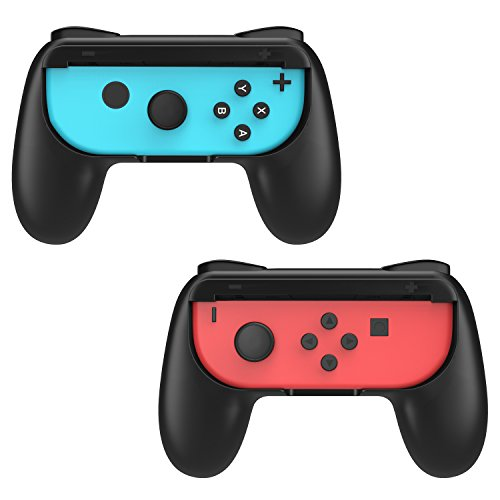 MoKo Grip for Nintendo Switch Joy-Con, 2-Pack Switch Controller Grip Handle Kit for Nintendo Switch Joy-Con (Black)