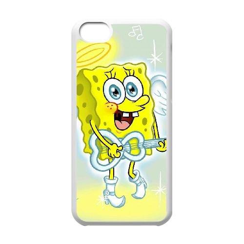 V7D25 Sponge Bob C8L7BG iPhone 5c Handy-Fall Hülle weißen DL6BJZ6TP decken