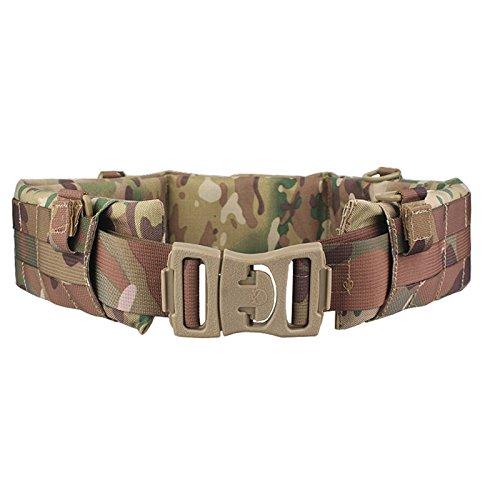 H World Shopping EMERSON Tactical Molle Waist Padded Patrol Battle Belt Military Hunting Multicam MC (Large) (Condor Web Belt)