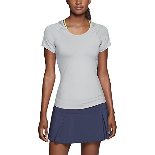 Nike Women's Dri-Fit Advantage Court Tennis Top-Light grey-L