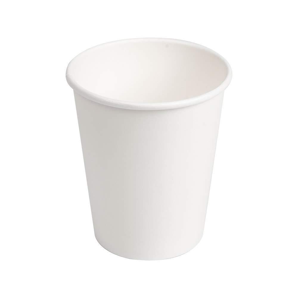 García De Pou Vasos Bebidas Calientes 1 Pared 240 ml 280 + 18 Pe G/M2 Ø8/5.6x9.2 cm, Blanco Cartoncillo, 50 Unidades