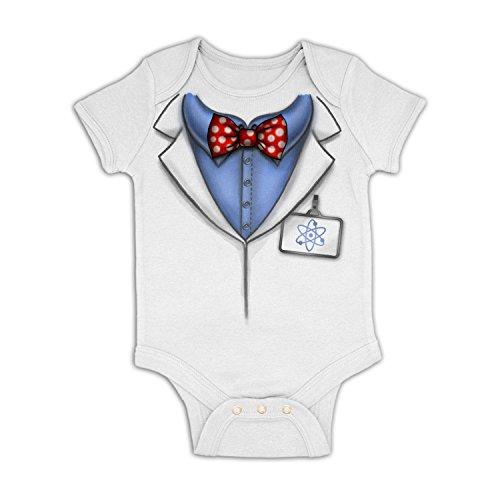 Professor Costume Baby Grow - White 3-6 - Dork Costume