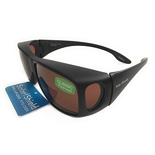 d5b94087eed Solar Shield Fit Over Your RX Glasses Large Polarized Sunglasses (1691) +  FREE BONUS