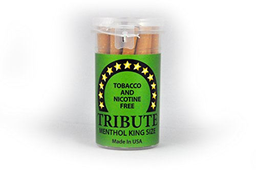 "Tribute ""Menthol"" - Tobacco Free - Nicotine Free - Herbal - Cigarette Alternative"
